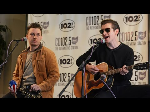 Arctic Monkeys in the CD102.5 Big Room
