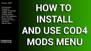 How To Install And Use COD4 Mod Menu