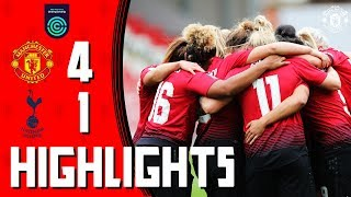 Highlights | Manchester United Women 4-1 Tottenham Hotspur Ladies | FA Women's Championship