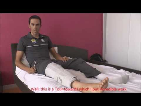 Alberto Contador updates on his injury and Tour-exit - English subtitles