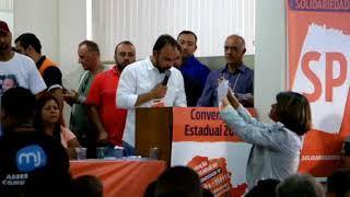 Alexandre Pereira fala na Convenção Estadual do Solidariedade-SP