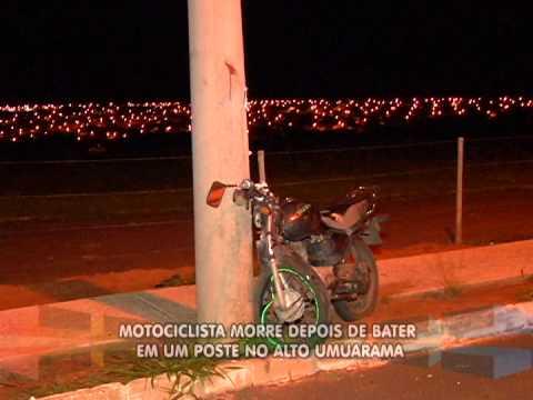 Motociclista morre depois de bater em um poste no Alto Umuarama