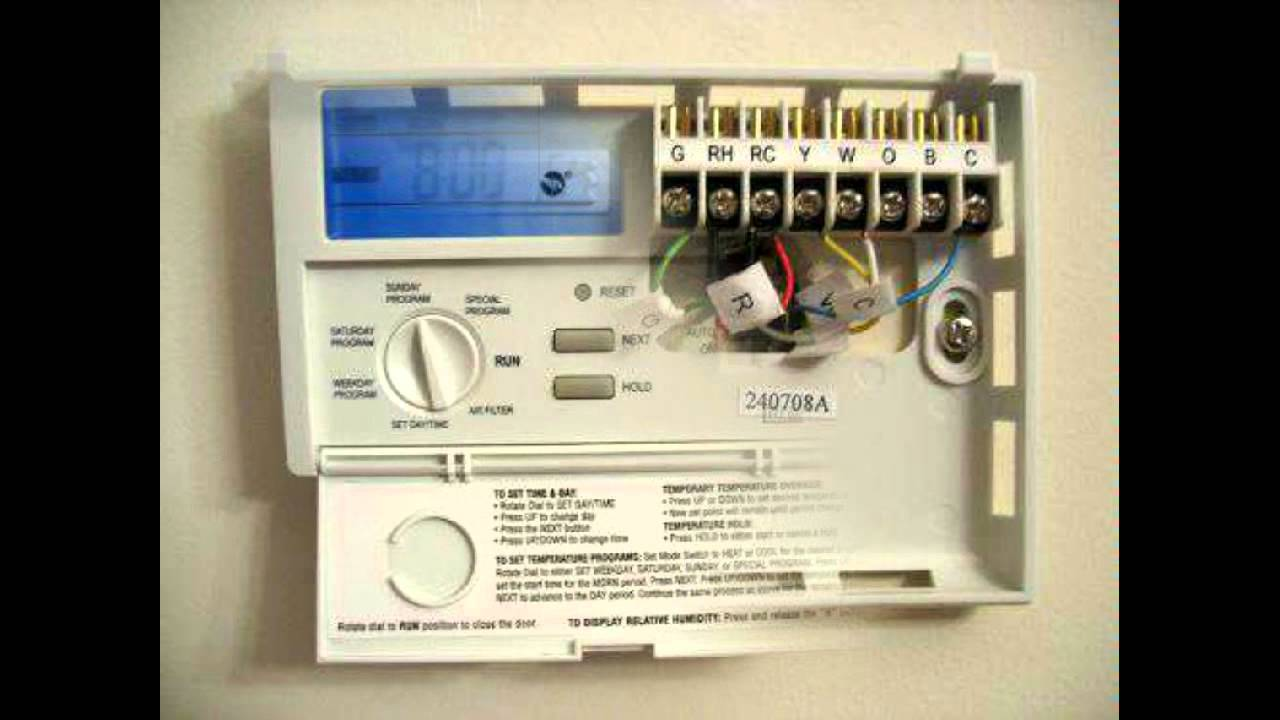 Lux 1500 Thermostat Wiring Diagram Diagrams Amana Furnace Programmable Products Tx1500e Youtube Lennox Trane Xt500c