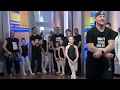 Dads join their daughters for a ballet lesson