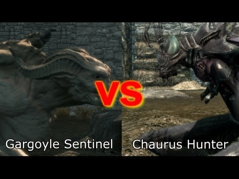 Skyrim Battle - Strongest Creature in Dawnguard