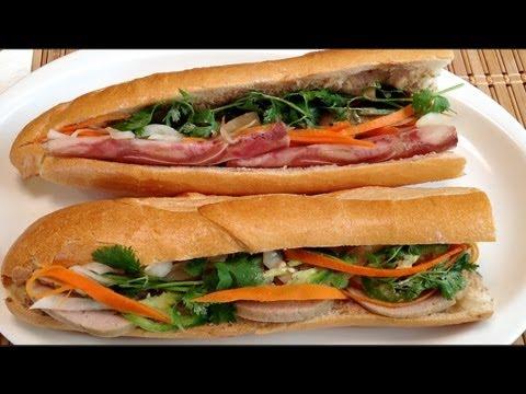 Vietnamese Pate Gan Ga Sandwich-How To Make Vietnamese Sandwich-Banh Mi Pâté Gan Thit Nguoi-Food