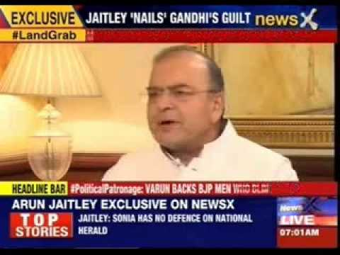 Arun Jaitley takes on Sonia on LoP, National Herald