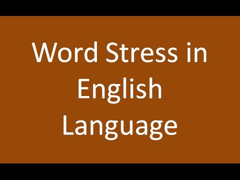 Word Stress in English Language