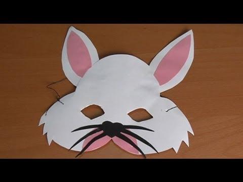 Como hacer una mascara de conejo en foami - Imagui