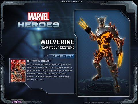Marvel Heroes Omega - Wolverine  Fear Itself Costume