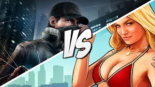 GTA 5 VS Watch Dogs Map! Watch Dogs Map VS Grand Theft