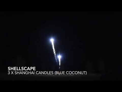 Shanghai Candles (Blue Coconut) by Shellscape at Firework Crazy