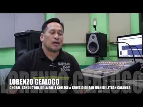 Audio Solutions Philippines Audio Engineering Training (Lorenzo Geologo-Choir Master)