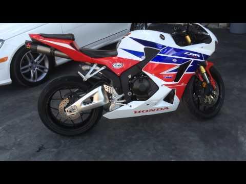 2014 Honda CBR 600rr Akrapovic exhaust look with DB killer