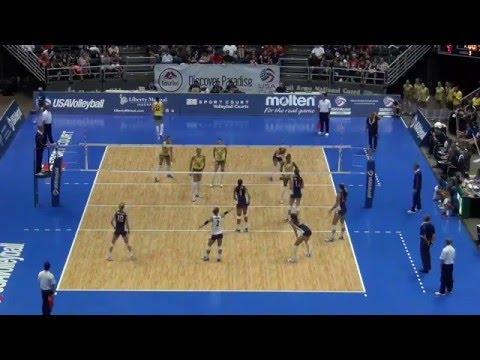 USAV Cup Women   Match 3 vs. Brazil   July 11, 2014