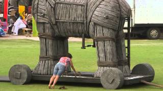 [Giant Wooden Horse Dares You To Beat It]