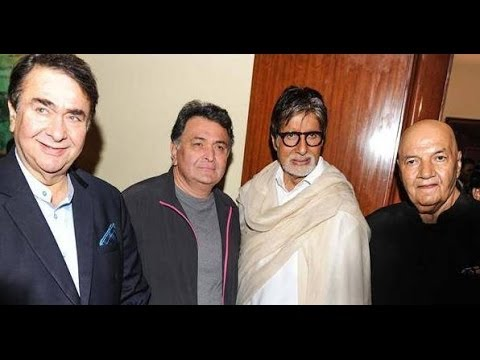 Randhir Kapoor, Rishi Kapoor & Amitabh Bachchan at Prem Chopra's Auto Biography Launch