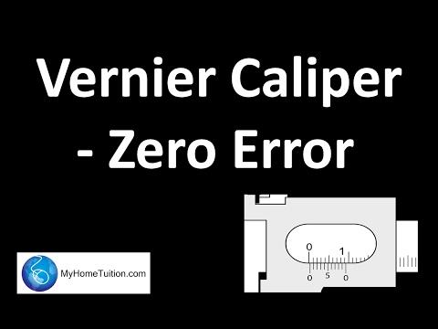 Vernier Caliper- Zero Error