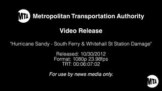 Hurricane Sandy: MTA South Ferry and Whitehall St Station Damage