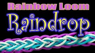 How To Make A Raindrop Rainbow Loom Bracelet HD