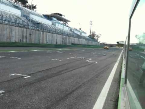 Lamborghini Aventador LP 700-4 test on Vallelunga racetrack