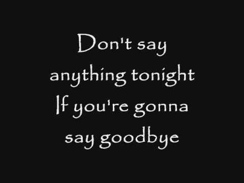 goodbye goodnight for good lyrics: