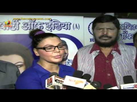 Rakhi Sawant gifts herself to RPI party - RPI party office inauguration