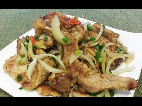 (HD) RECIPE: Pan-fried Pork Chop With Spicy Salt 椒鹽豬扒