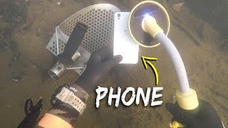 Metal Detecting Underwater for Lost Jewelry and Money! (Scuba Diving)   DALLMYD