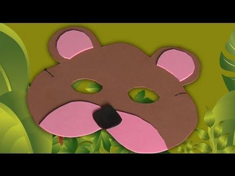 Mascara de oso polar en foami - Imagui