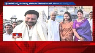 Actor Sai Kumar and his family visit Tirumala
