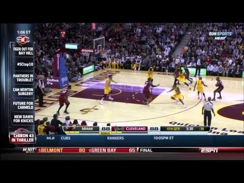 March 18, 2014 - ESPN - Game 65 Miami Heat @ Cleveland Cavaliers - Win (46-19)(Sportscenter)