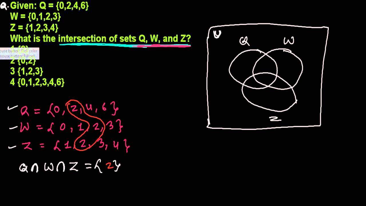 intersection of three sets in venn diagram set theory