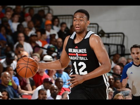 Jabari Parker Answers a 3 pointer with a Reverse SLAM!!
