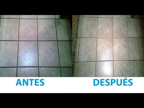 Limpiar eficazmente las juntas de los azulejos del suelo y paredes.