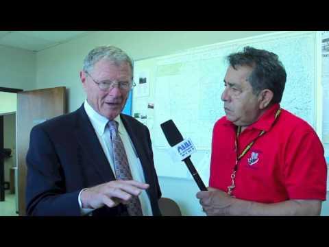 US Senator James Inhofe visits Okmulgee, Okla