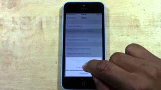 IPhone 5c How To Reset Back To Factory Settings