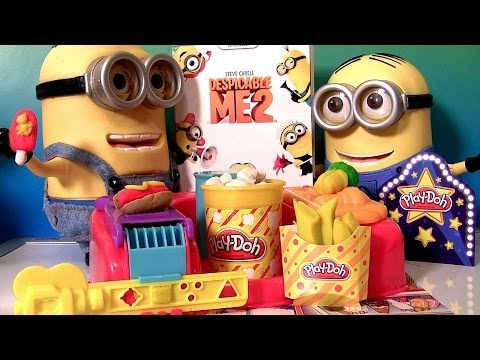 Play Doh Poppin' Movie Snacks Popcorn Ice Cream Despicable Me Blu-Ray DVD Minion Dave Singing Banana