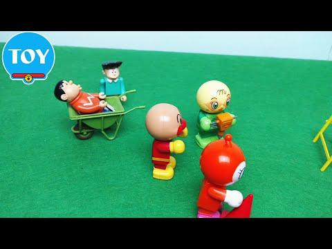 Chaien siêu quậy công trường Anpanman - hoạt hình doremon chế đồ chơi trẻ em
