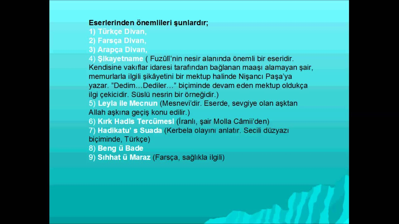 divan edebiyat airleri youtube