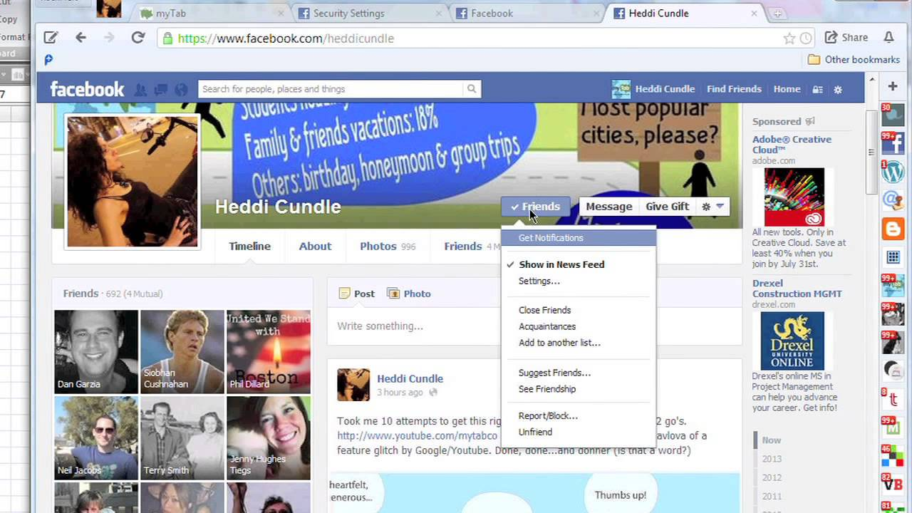 how to find out when someone deleted you on facebook