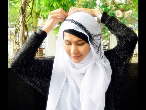 Tutorial Hijab Paris | with Necklaced | Inspired by Fatin Shidqia ...