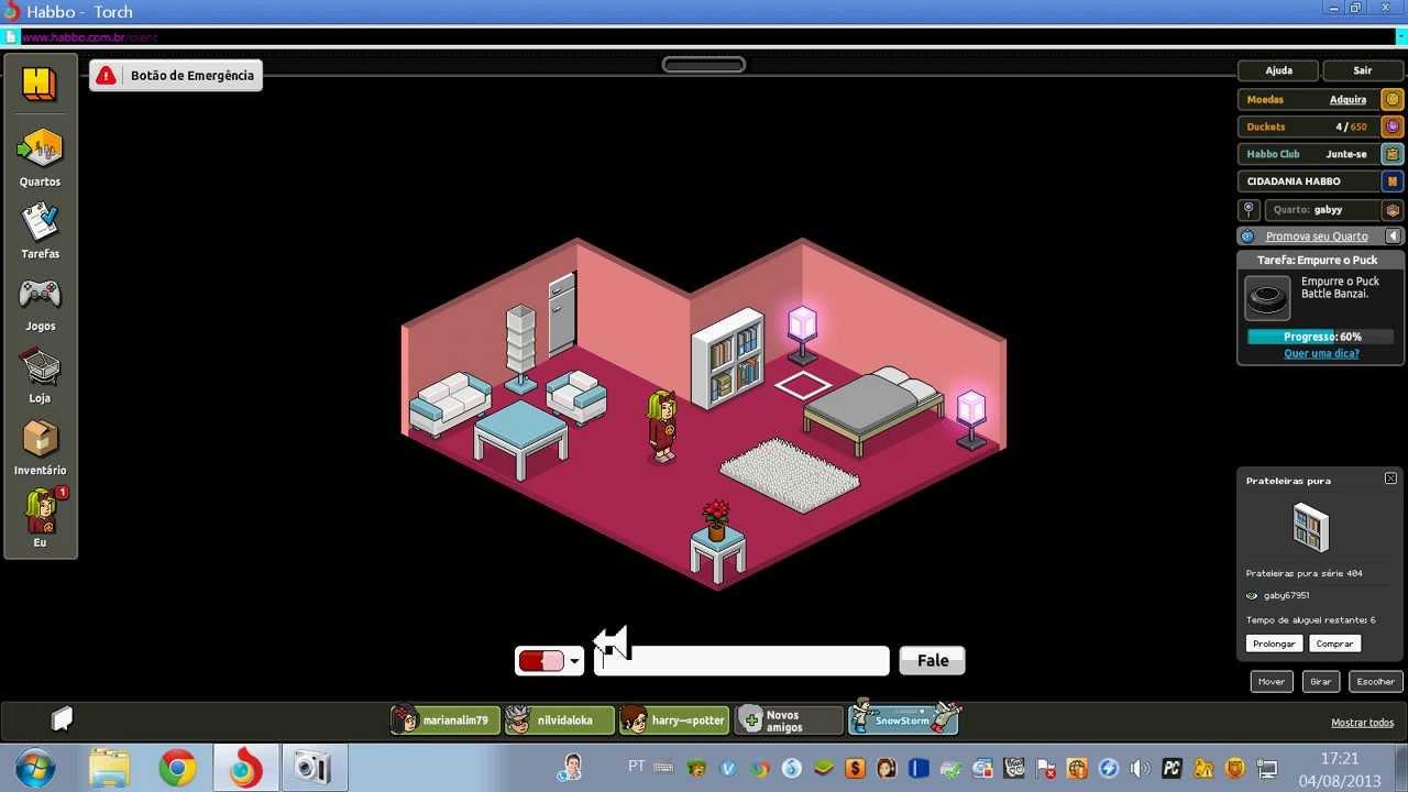 como fazer um quarto legal e barato para menina no habbo jogo  YouTube # Como Fazer Um Banheiro Moderno Habbo