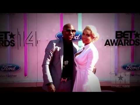 Exclusive Floyd Mayweather Confronts Tiny on BET Awards Red Carpet