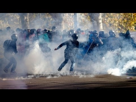 Italy's anti-austerity protests erupt into violence