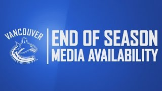 Vancouver Canucks End of Season Media Availability (Apr. 11, 2017)
