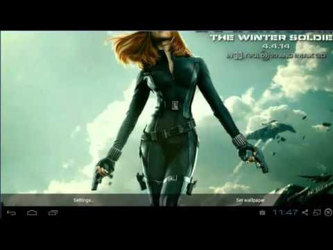 Scarlett Johansson Live Wallpaper Android Application
