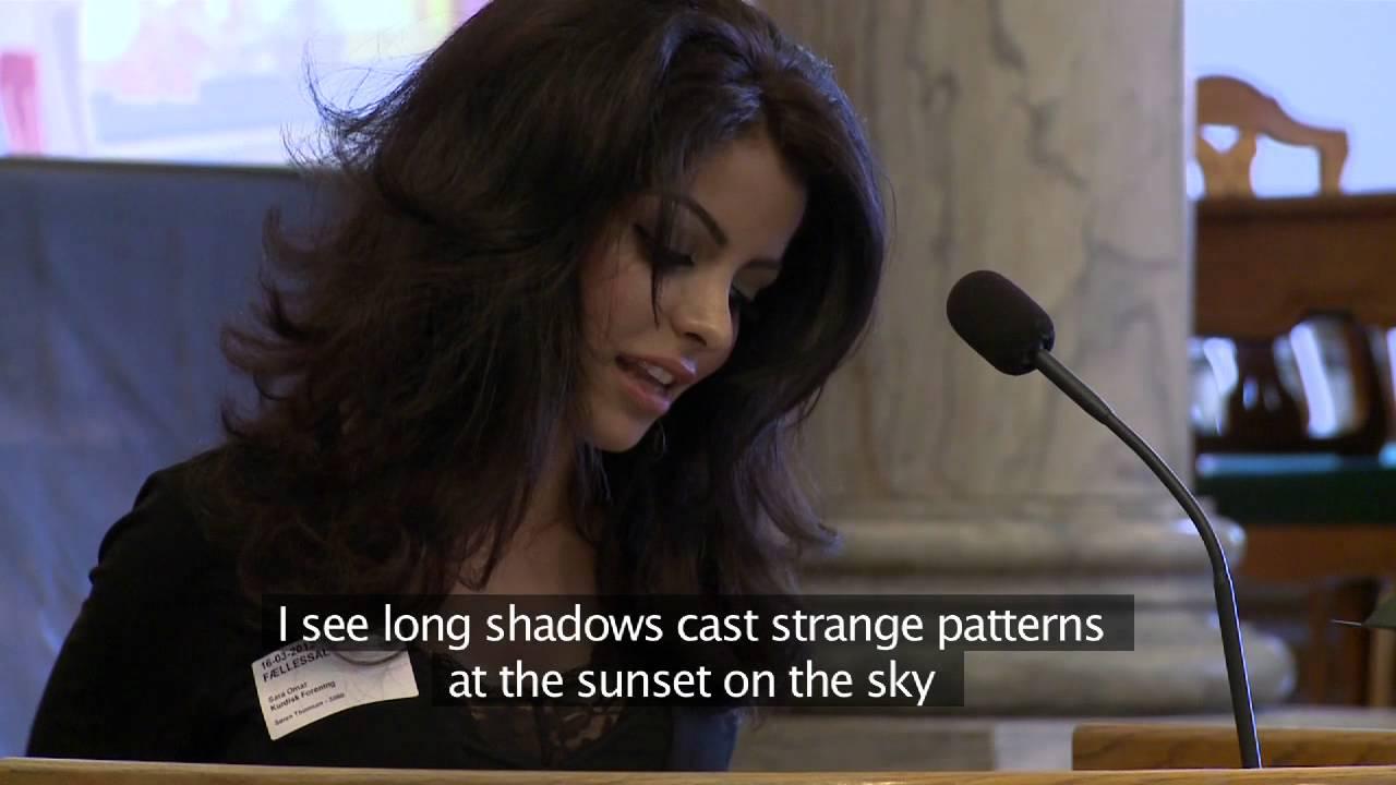 Sara omar-Halabja Memorial Day in Christiansborg, the ...