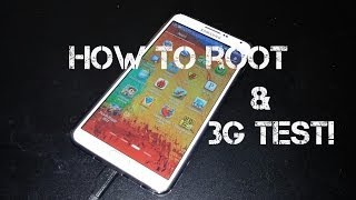 HDC Galaxy Note 3 N9000 MTK6589 How To Root And 3G Test