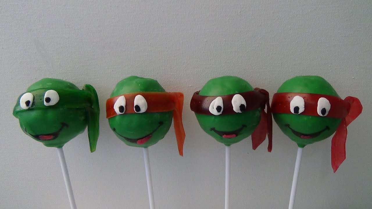 how to make turtle cake pops
